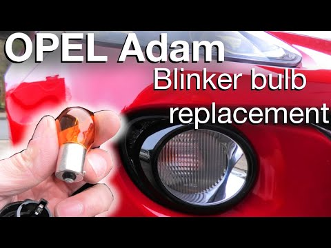 Opel Adam Front Blinker Bulb Replacement (how To)