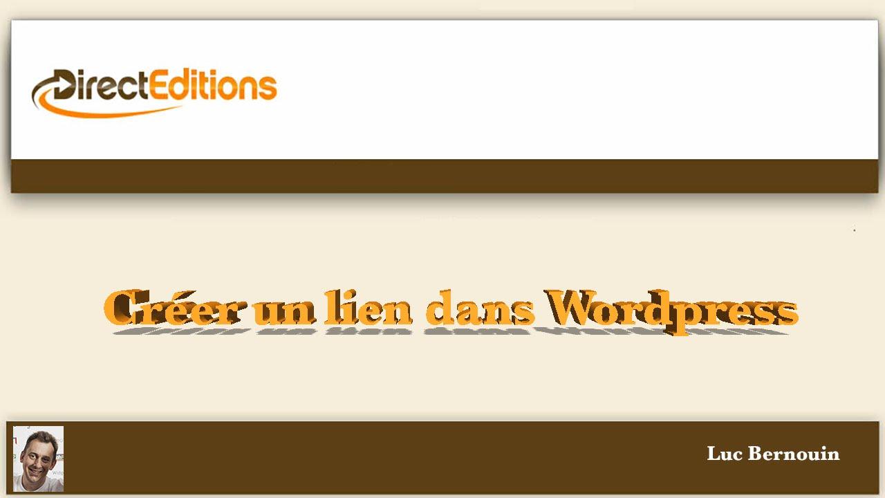 cr u00e9er un lien dans wordpress