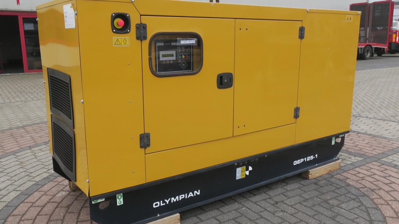 775830 CAT OLYMPIAN GEP125-1 DIESEL GENERATOR SET 110KVA 400V/230V  NEW/UNUSED 1HR 2015 S01771
