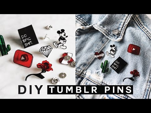 DIY TUMBLR PINS - Minimal, Easy & SUPER Affordable!