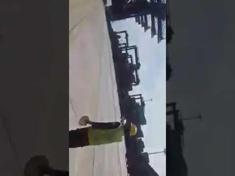 2 ship accident original my mobile video in Karachi