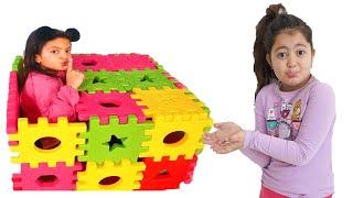 Masal and Öykü Colors Magic Box - Hide and Seek Funny Kids Video