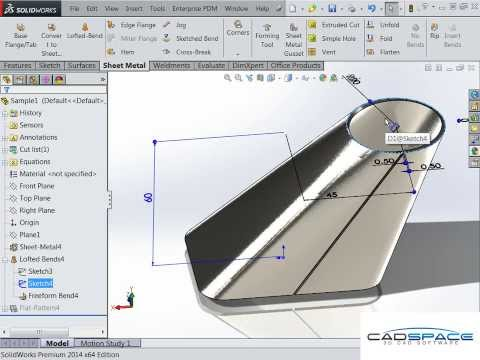 Square to Round Duct in SolidWorks Sheet Metal