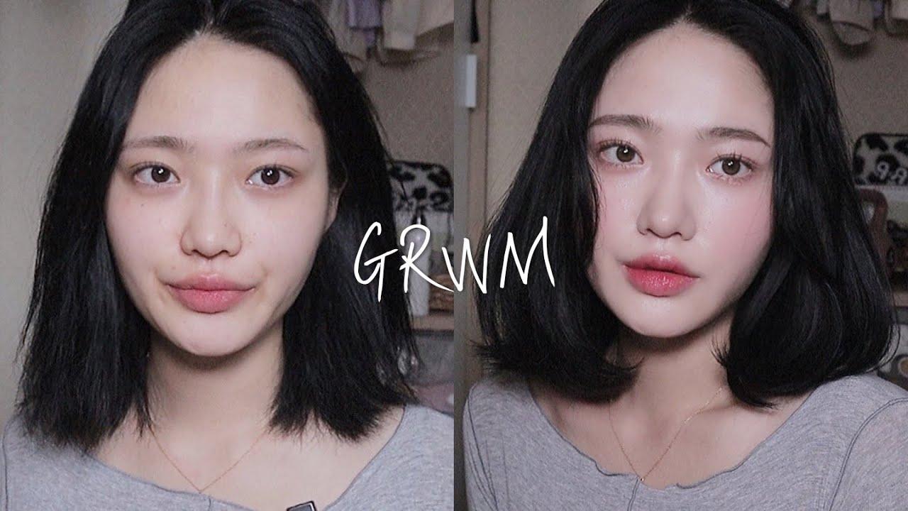 [GRWM] 🙋🏻♀️흑발하고 중단발 스타일링까지! (ft.달바) / 데일리 메이크업