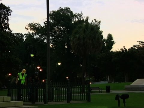 Raw: 2 Arrested as Confederate Flag Comes Down