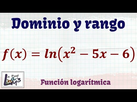 Dominio y rango de una función con logaritmo natural | La Prof Lina M3
