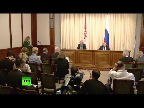 Пресс-конференция глав МИД России и Хорватии
