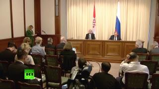 Пресс конференция глав МИД России и Хорватии
