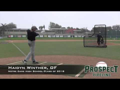 Haidyn Winther Prospect Video, OF, Notre Dame High School Class of 2018