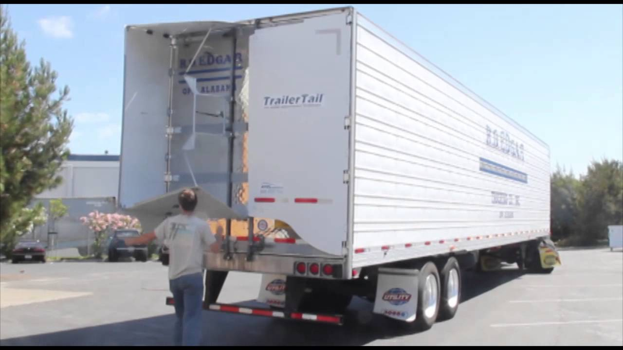 Aerodynamic Tractor Trailer : Trailertail durability youtube