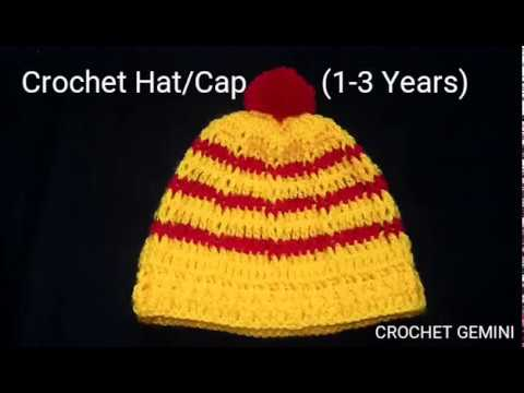 Easy Crochet Baby Hat 1 3 Years Lokrichi Topi Crochet Baby