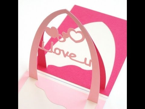 How to Make a Valentine's Day Pop Up Card : I Love U & Spiral Hearts ...