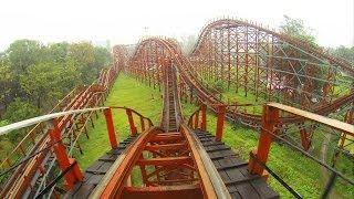 Cyclone Roller Coaster POV Nicco Park India Southport Pleasureland Copy Clone UK