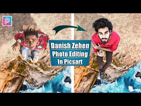 Hight Of Mountain Danish Zehen Editing Tutorial 2019 In Picsart || 2 Steps Only