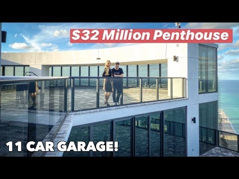 $32 MILLION PORSCHE DESIGN TOWER PENTHOUSE CRIBS TOUR!