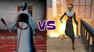 Granny's Freeze Trap vs Evil Nun's Dynamite Explosion
