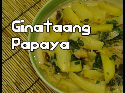 Paano magluto Ginataang Papaya Recipe - Tagalog Pinoy