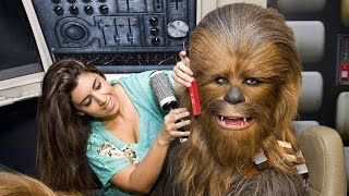 Taking Selfies with Chewbacca and Yoda - Rebel Base