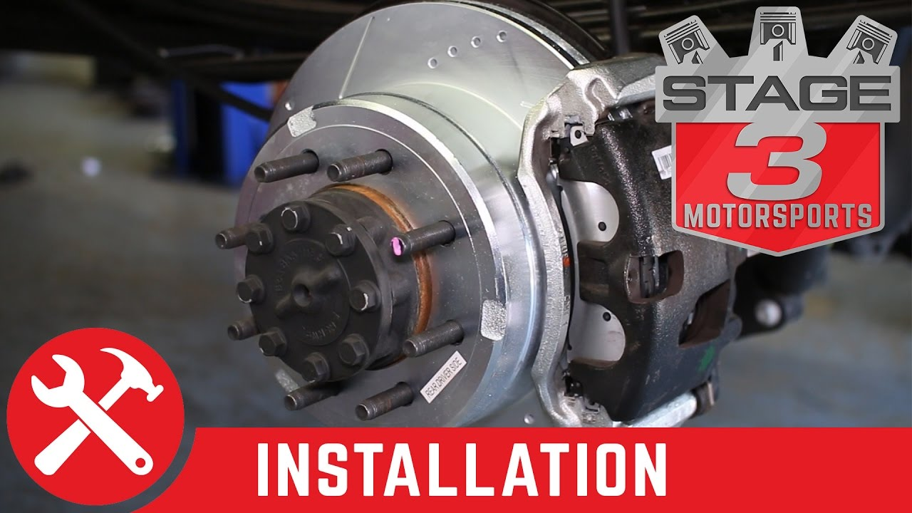 2013-2017 F250 & F350 4x4 Power Stop Z36 Truck & Tow Complete Brake Kit  Install