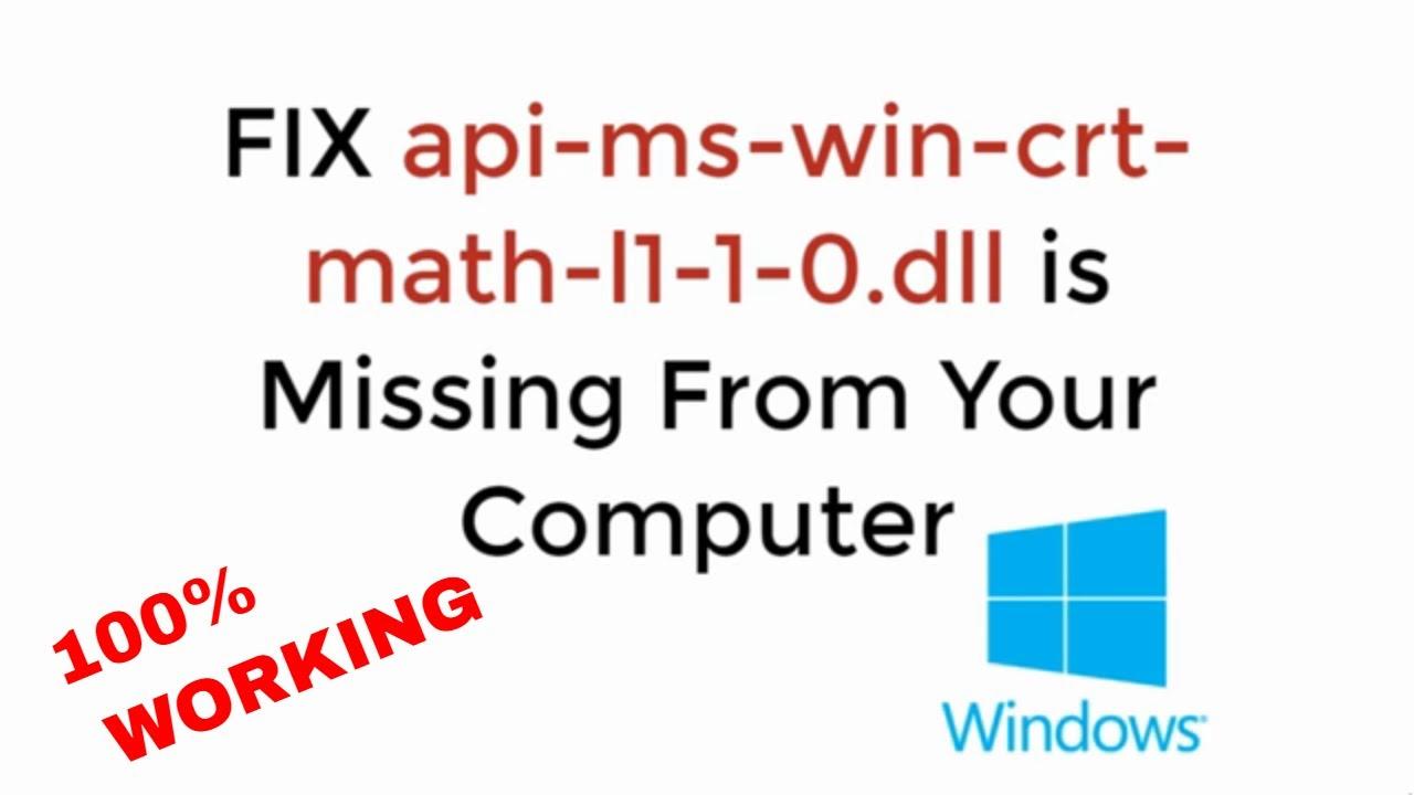 api-ms-win-crt-math-l1-1-0.dll microsoft
