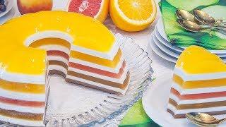 Сливочно-желейный торт на фруктовых соках без выпечки – Коллекция Рецептов