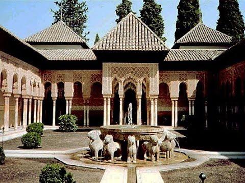 El Patio De Los Leones De La Alhambra Youtube