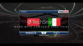 PES 2016 ✪ PC Gameplay ✪ Morocco VS Italy ✪ HD
