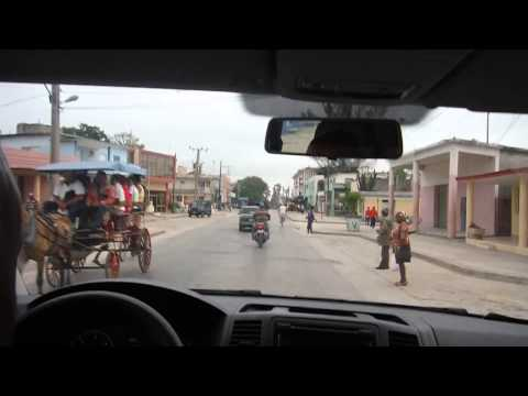 Driving through Contramaestra, Cuba.  Heading toward Guantanamo.  Day 6.