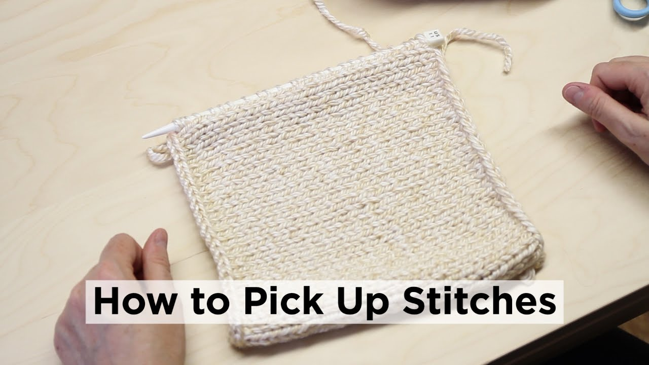 Knitting Pick Up Stitches Along Curved Edge : How to Pick Up Stitches Along an Edge - YouTube