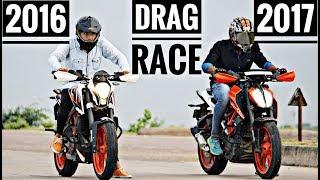 Drag Race Ktm Duke 390 2016 Vs 2017 | Ayush Vlogs