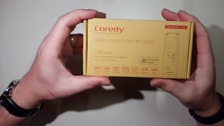 UNBOXING: Coredy DGV-100M 8GB Digital Voice Recorder