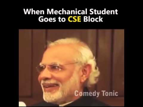 When a Mechanical engineer goes to CSE dept