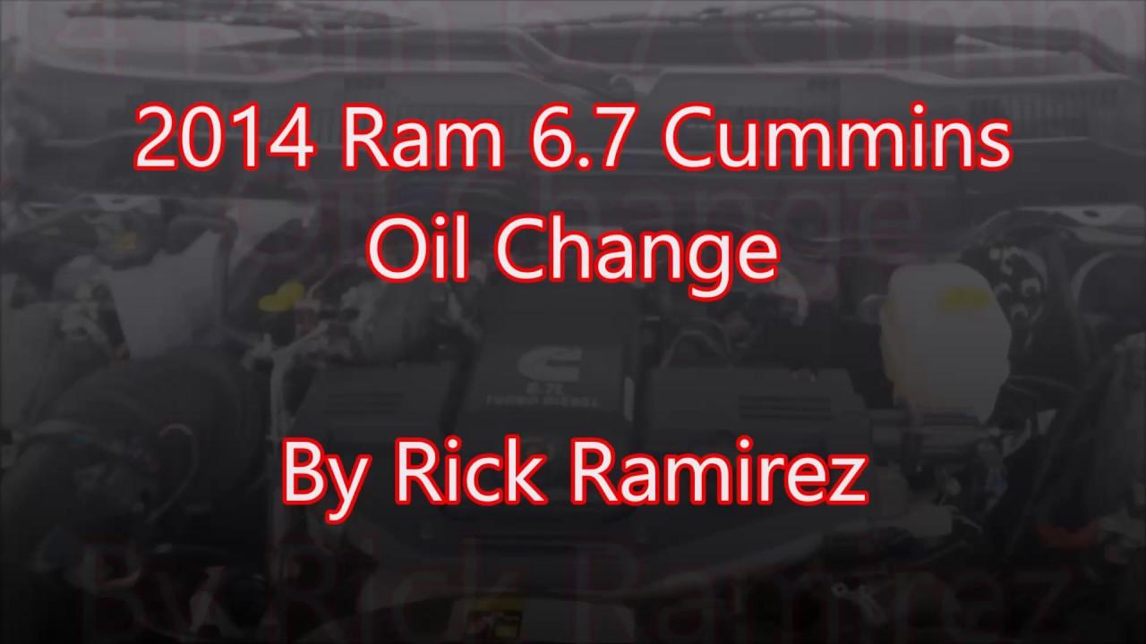 2014 dodge ram 2500 3500 6 7 cummins oil change youtube. Black Bedroom Furniture Sets. Home Design Ideas