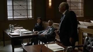 Raymond Reddington and officer Baldwin court scene