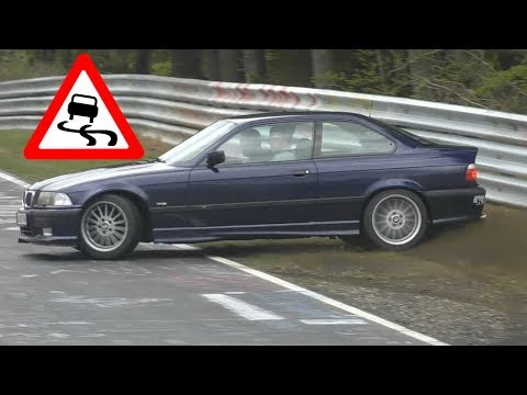 When It Rains at the Nürburgring Nordschleife! CRASHES, LUCKY PEOPLE & DRIFTS!