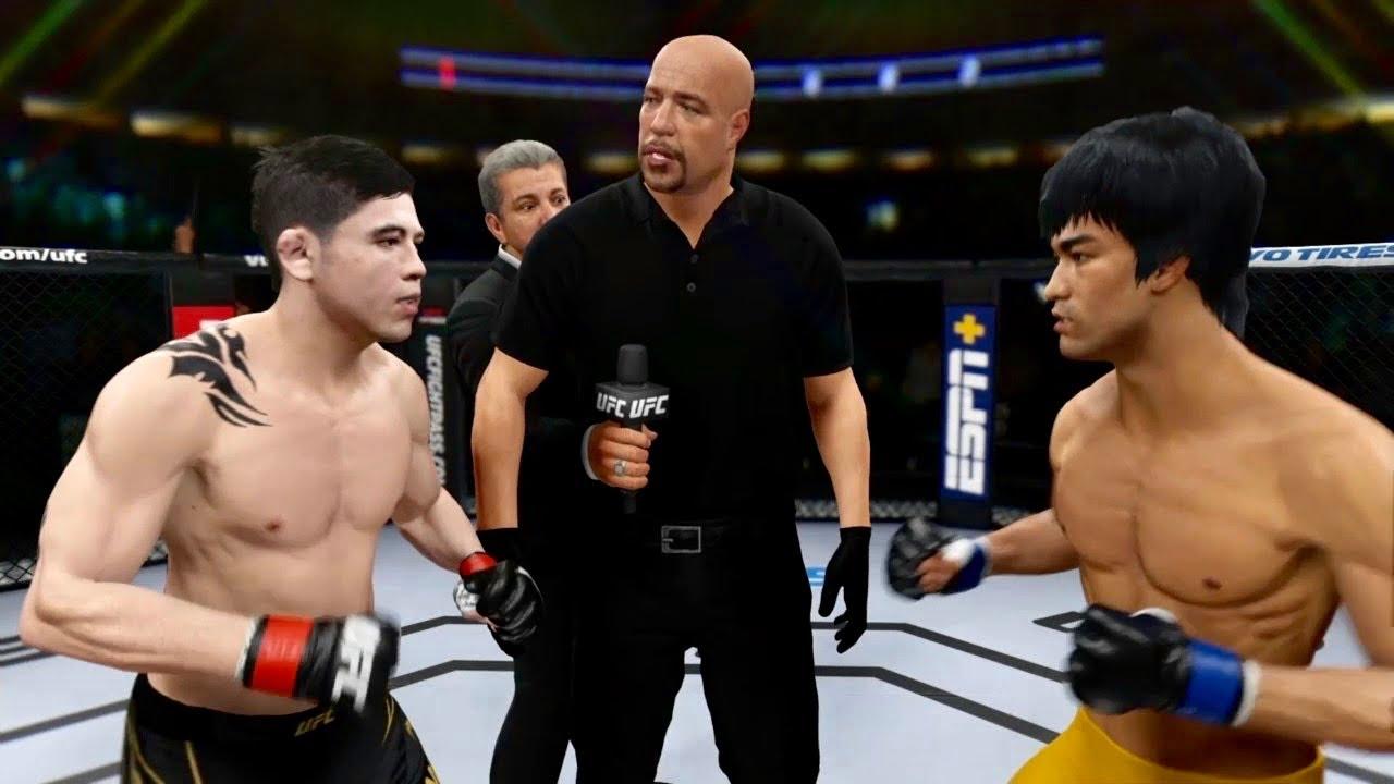 BRUCE LEE VS BRANDON MORENO *RESPECT*😱 | UFC 4 BRUTAL FIGHT | UFC 4 | UFC 4 BRUTAL FIGHT | Mr. Jojo
