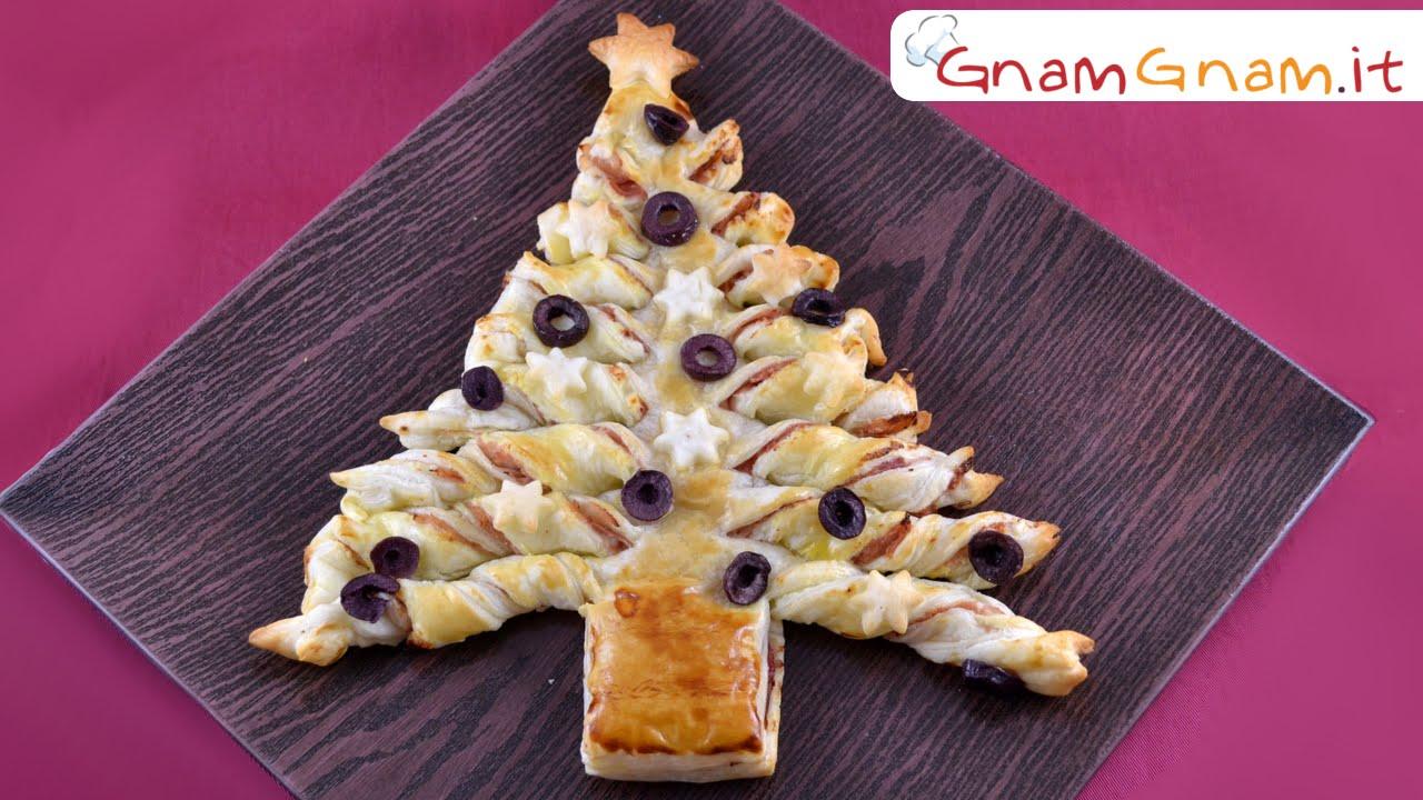 Albero Di Natale Di Pasta Sfoglia.Albero Di Natale Di Pasta Sfoglia La Ricetta Di Gnam Gnam
