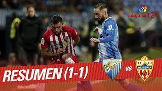Resumen de Málaga CF vs UD Almería (1-1)