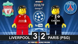Liverpool vs PSG Paris Saint-Germain 3-2 • Champions League 2019 (18/09/2018) Goals Highlights Lego