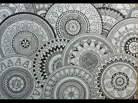 How to draw Circle doodles(Mandala) - YouTube