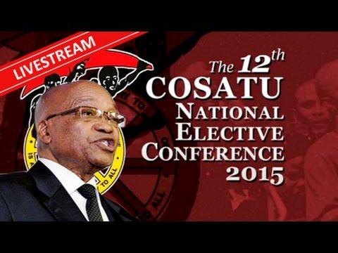 President Zuma addresses the Cosatu conference