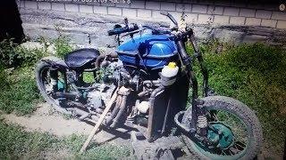 Мотоцикл с двигателем от Ваз 2109  Часть 10