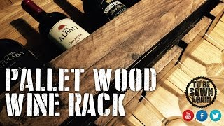 Building a Pallet Wood Wine Rack