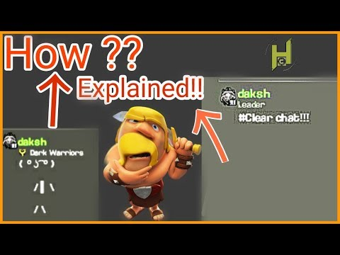 How to do clear chat and ascii art text in clash of clans |Hybrid Clasher |Hindi