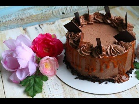 Торт брауни с карамелью (рецепт под видео)