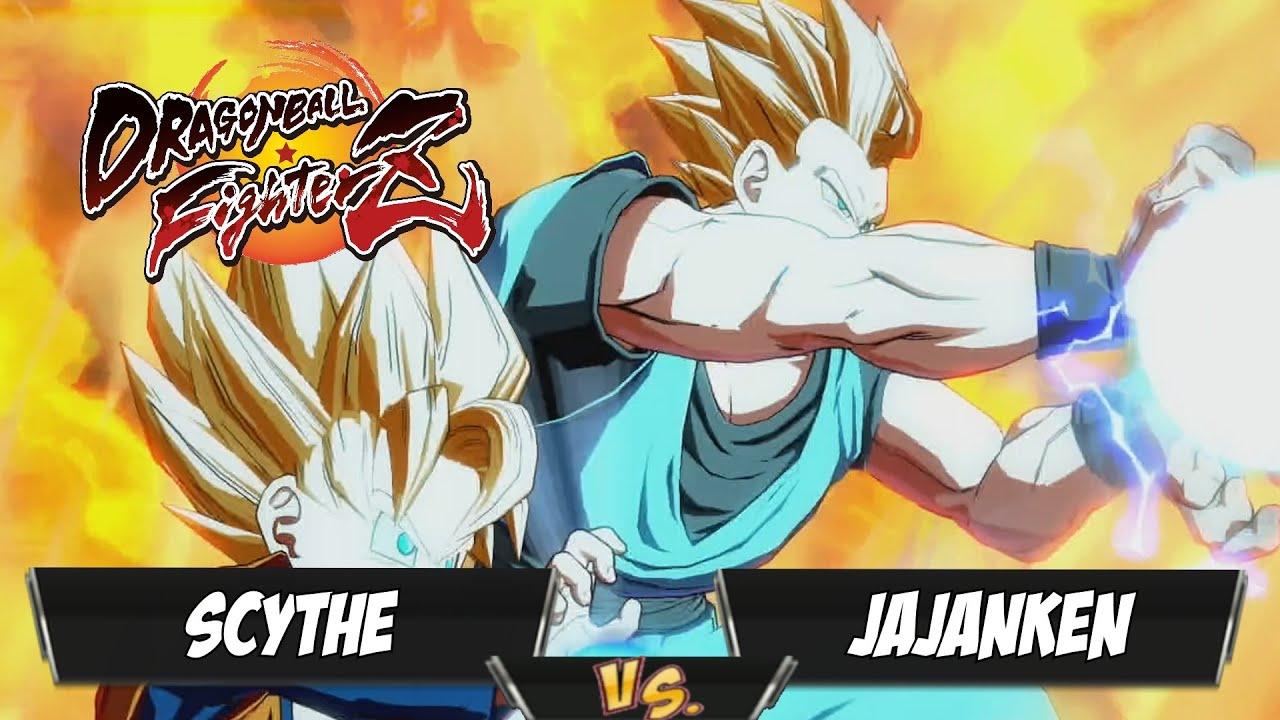 Scythe(Kid Buu/Adult Gohan/GT Goku) Fights Jajanken(Android 18/Bardock/Base Goku)[DBFZ PS4]