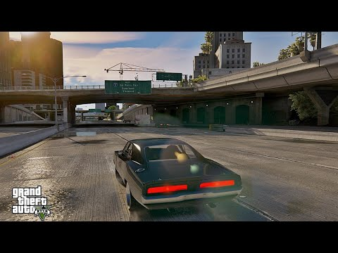 GTA 5 Dom's 1970 Dodge Charger Furious 7 NaturalVision