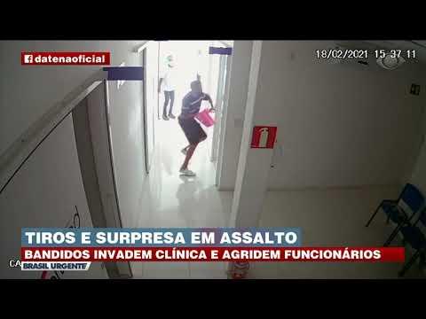 SURPRESA DURANTE ROUBO: BANDIDOS INVADEM CLÍNICA E SÃO SURPREENDIDOS POR POLICIAL | BRASIL URGENTE