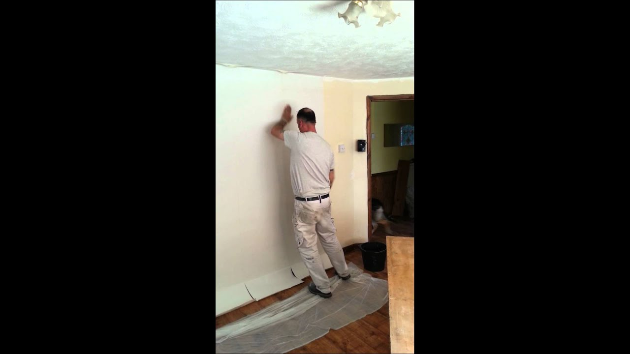 Wall Lining Paper how to hang lining paper .. - youtube