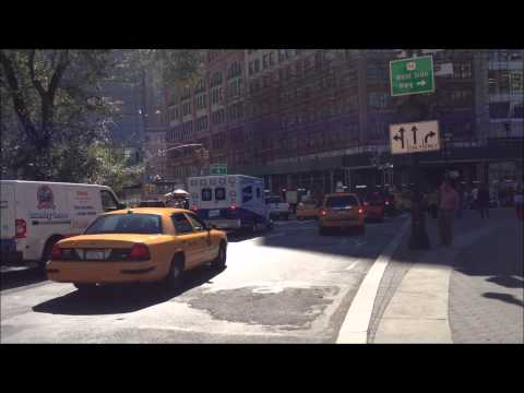 BETH ISRAEL EMS HOSPITAL AMBULANCE RESPONDING IN THE UNION SQUARE AREA OF MANHATTAN IN NYC.